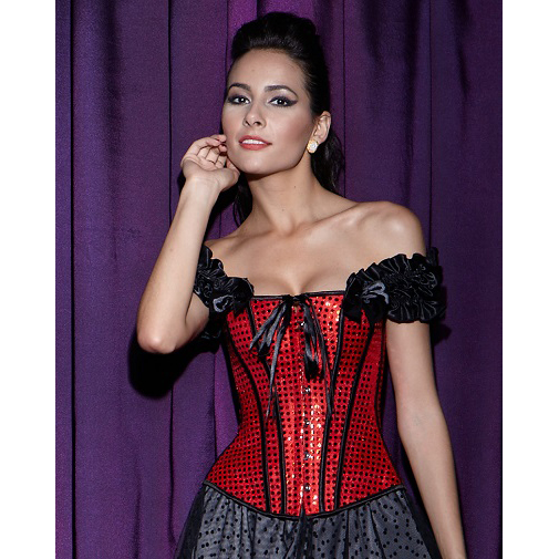 Sequin Lace-Up Corset HP5164